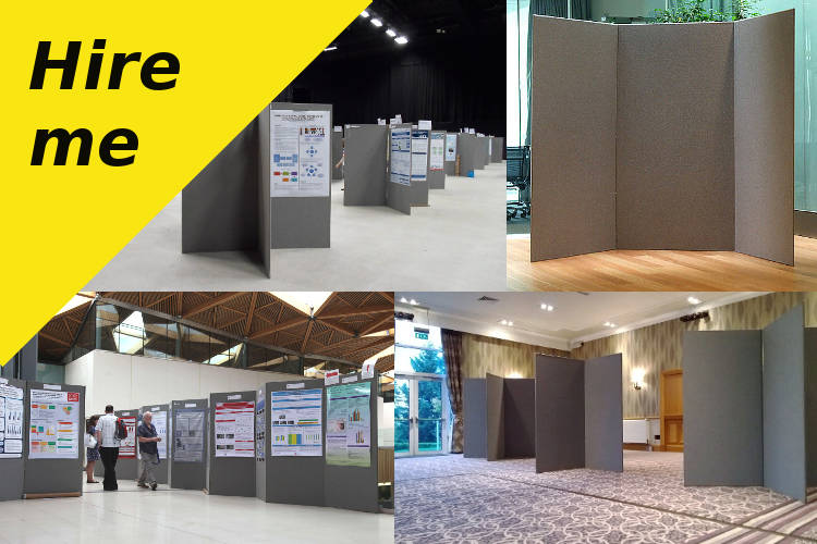 Exhibition Stands Oxfordshire : Poster boards display boards hire rental hire display panels